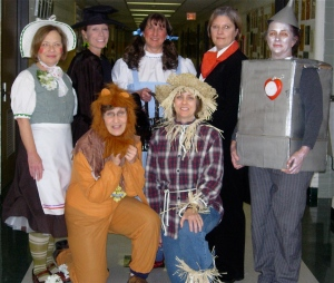 Not sure this is flattering to any of us, but here we are as characters in the Wizard of Oz