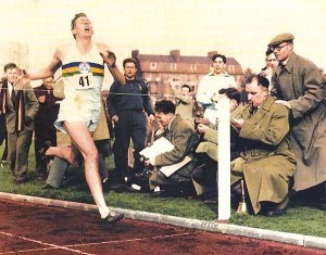 Sir Roger Bannister - the 4-minute mile versus the 74-minute mile
